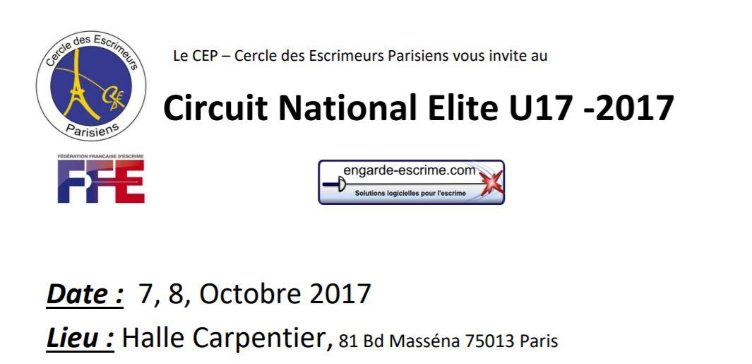 CIRCUIT NATIONAL ÉLITE FLEURET – PARIS