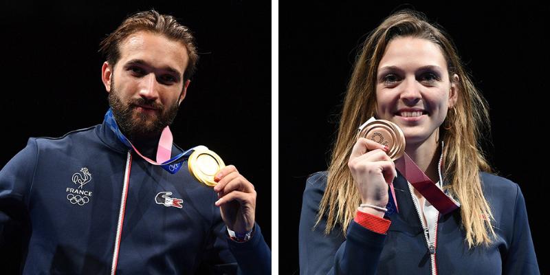 Médailles JO Tokyo : Cannone et Brunet