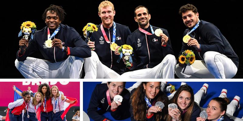 JO Tokyo : 3 médailles par équipes pour l'escrime !
